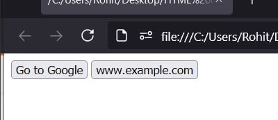 HTML Button href