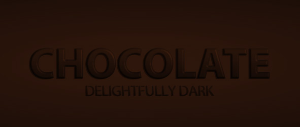 Chocolate Text Effect Preview