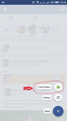 cara upload video di fb melalui opera mini