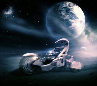 Create a Sci-Fi Racing Driver Scene (Using Innovative Photoshop Techniques)
