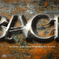 Learn how to create Iron Text Effect in Photoshop