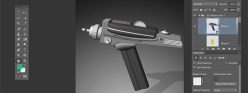 Photoshop CC: Star Trek Phaser – 3D from Vector Shapes