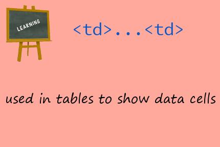 HTML td tag