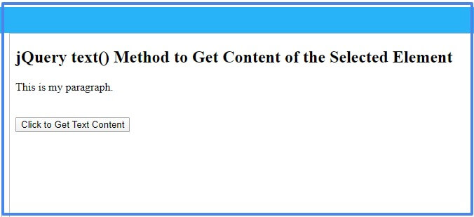 Jquery Text Method Return Or Set The Text Content