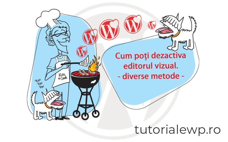 Cum poți dezactiva editorul vizual din WordPress