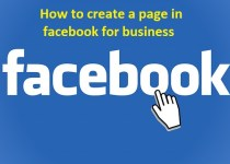 how to create a page in facebook for business