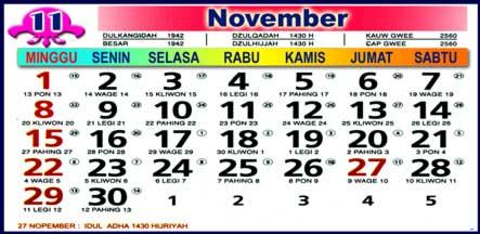 Kalender November 2009