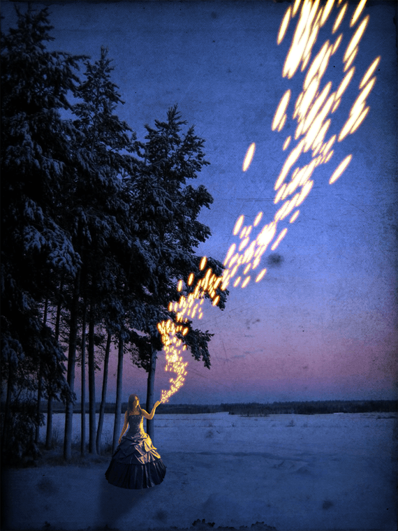 Create a Winter Scene with Fire Particle Lights in Photoshop