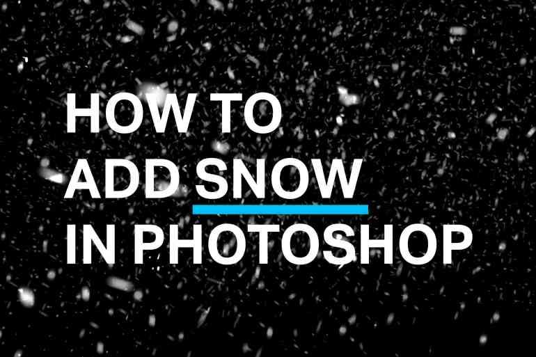 snow-photoshop