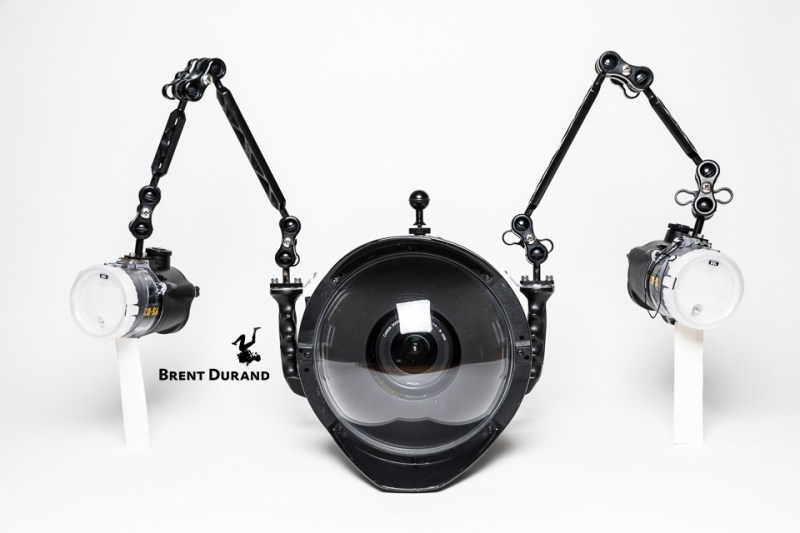 wide-angle dual strobe position diagram