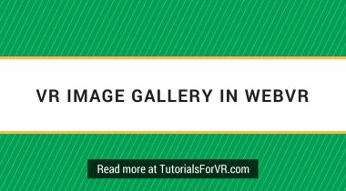 image gallery in webvr