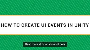 create ui events in unity