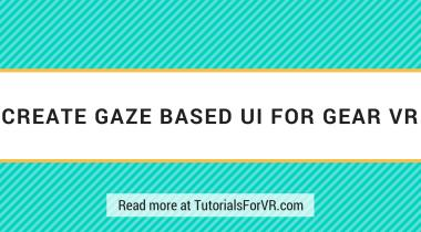 create gaze based ui in unity