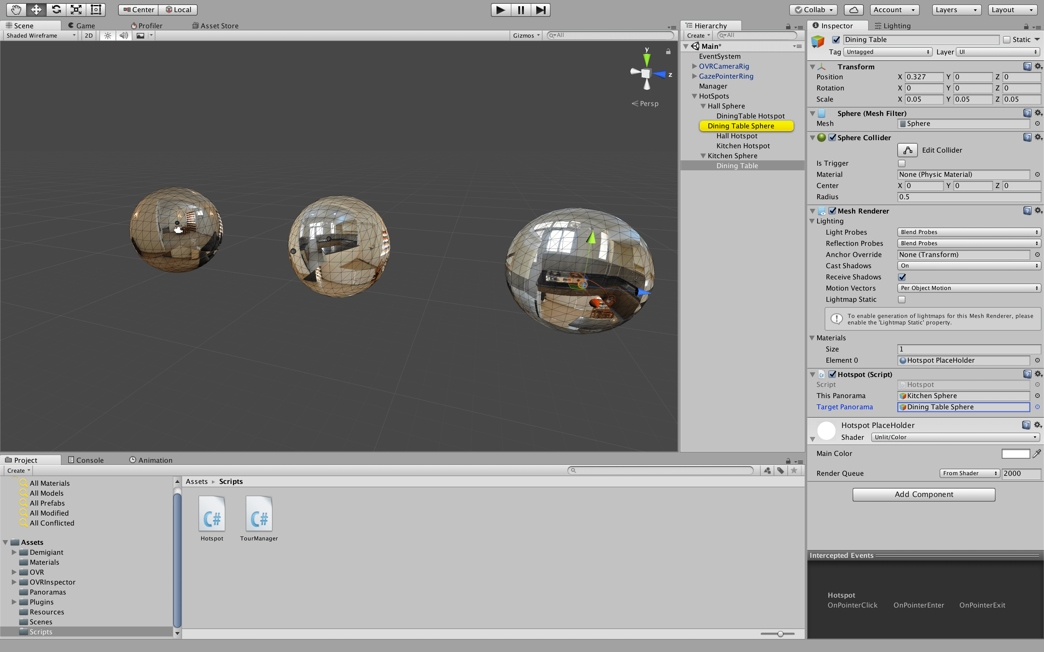 Create Virtual Tour App in Unity with Hotspots in VR VR Tutorials to