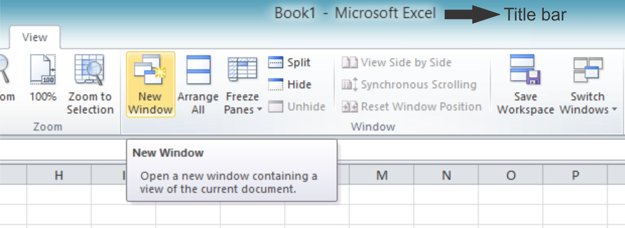Window View In Excel