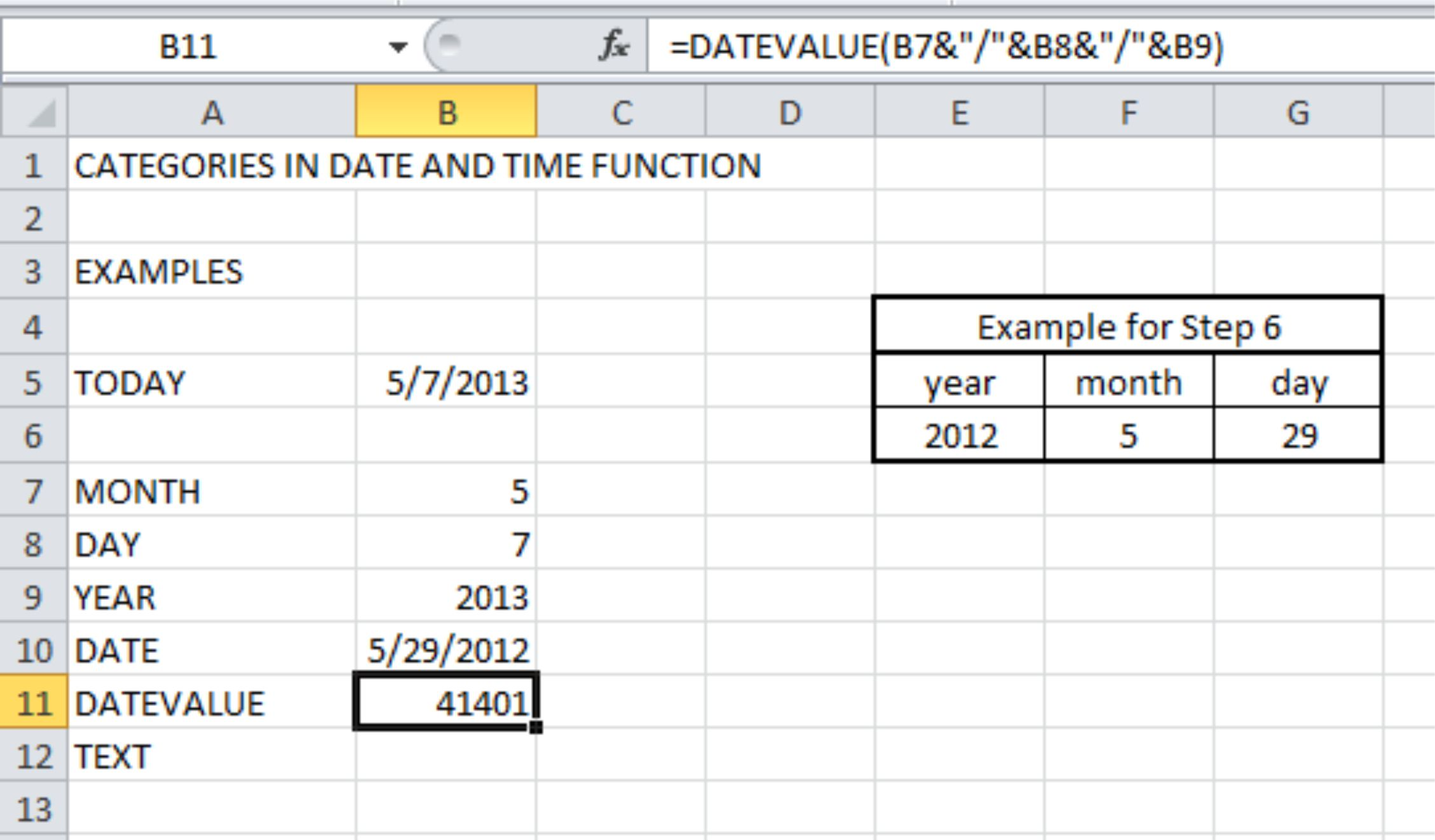 Worksheet Function For Date