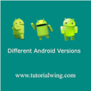 Tutorialwing Android Different version