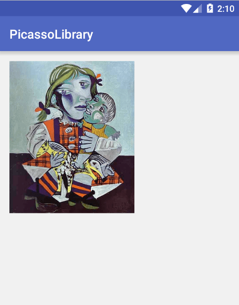 tutotialwing  android picasso library output