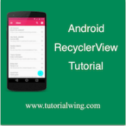 Tutorialwing Android RecyclerView LayoutManagers image