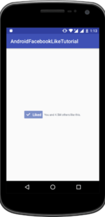 Implement Facebook Like Button Using Android Facebook SDK