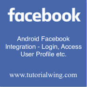 Tutorialwing Android Facebook Integration - Login image