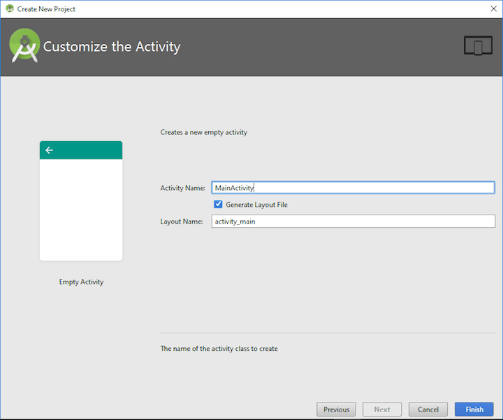 Tutorialwing - Android Studio New Project Step-5