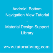 Tutorialwing - Android Bottom Navigation View tutorial logo