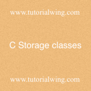 Tutorialwing - C Storage classes