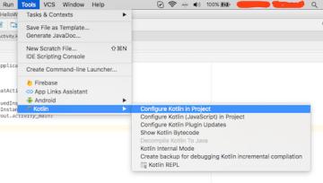 Configure Kotlin In Project