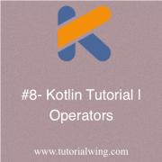 Tutorialwing - operators in kotlin