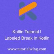 Tutorialwing - Labeled break in kotlin