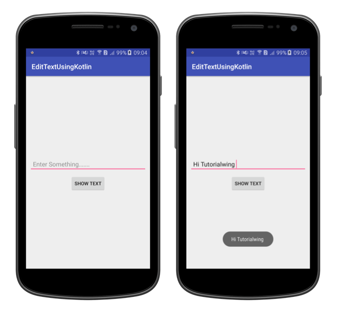 Tutorialwing EditText Using Kotlin Android EditText Widget Using Kotlin