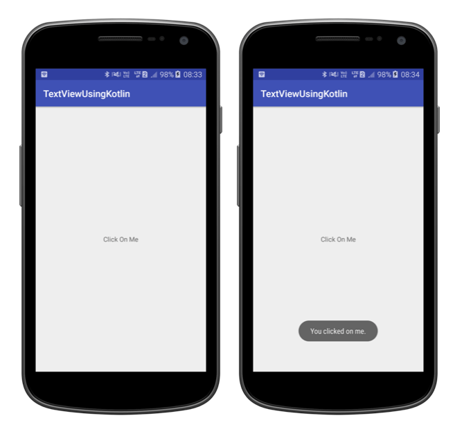 Android TextView Using Kotlin Output Android TextView Using Kotlin programming language