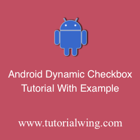 Create an Android Checkbox programmatically in android