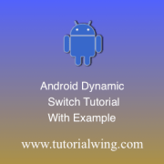 Tutorialwing Android Switch Logo Android switch programmatically in android application