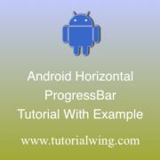 Tutorialwing Android Horizontal ProgressBar Tutorial Logo Android Horizontal ProgressBar Widget Logo