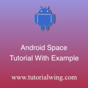 Tutorialwing android space widget tutorial logo space widget tutorial