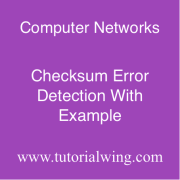 Tutorialwing Checksum Error Detection Example of Checksum Error Detection Tutorial