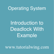 Tutorialwing operating system what is deadlock in os Deadlock Introduction