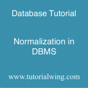 Tutorialwing Database Normalization in dbms with example