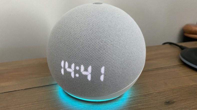 echo dot with alexa ring clock
