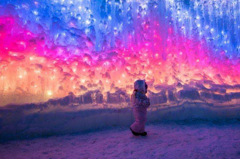 walking-inside-an-ice-castle