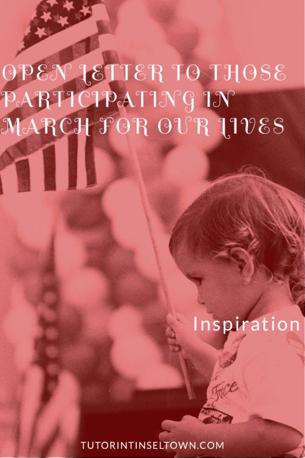 Open Letter to Those Participating in March for our Lives