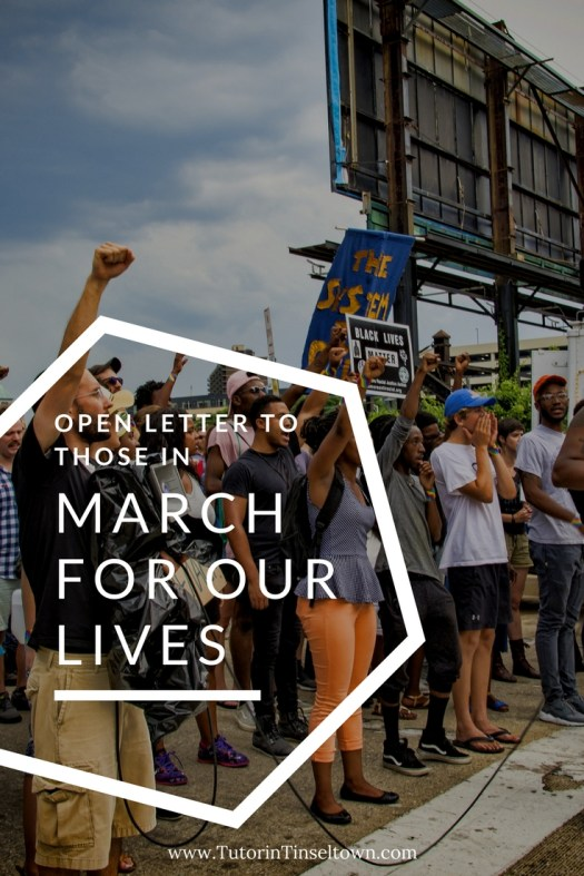 open letter to those in March for our Lives