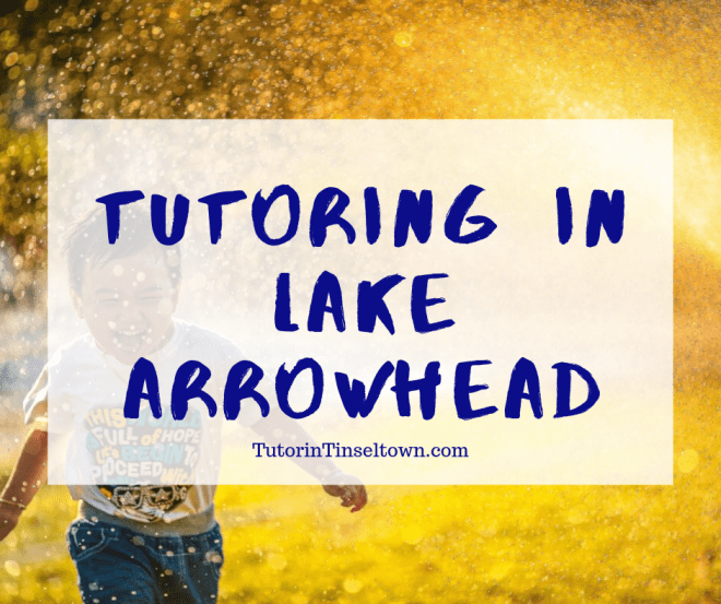 This is a Tutor in Tinseltown video to discuss tutoring in Lake Arrowhead as well as their goals for getting the community involved in children's education.