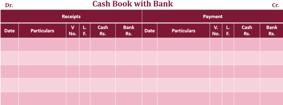 Cash book double column Example 2  - Double Column Cash Book | Explained with Example