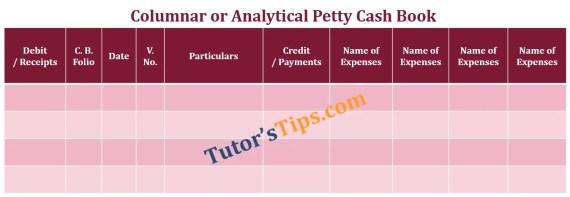 Columnar or Analytical petty column Cash book