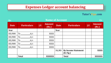 Expenses Ledger account balancing Feature Image - Financial Accounting Tutorial