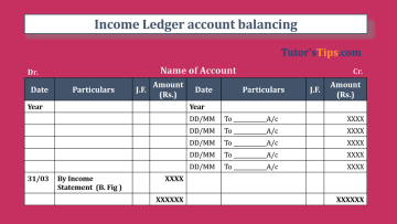 Income Ledger account balancing Feature Image - Financial Accounting Tutorial