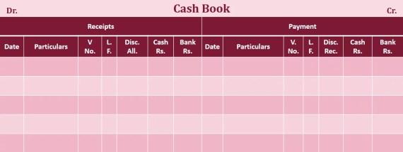 Triple Column Cash Book format